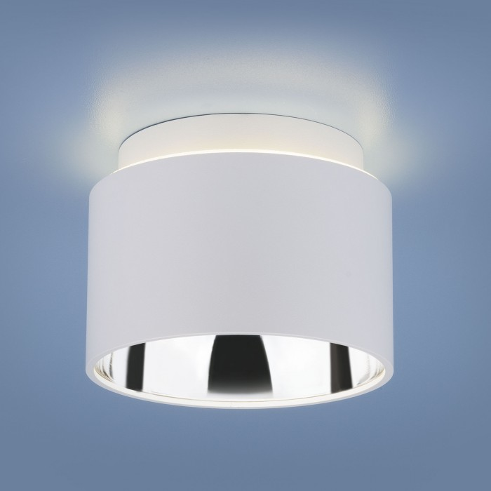 1Накладной точечный светильник 1069 GX53 WH белый Elektrostandart