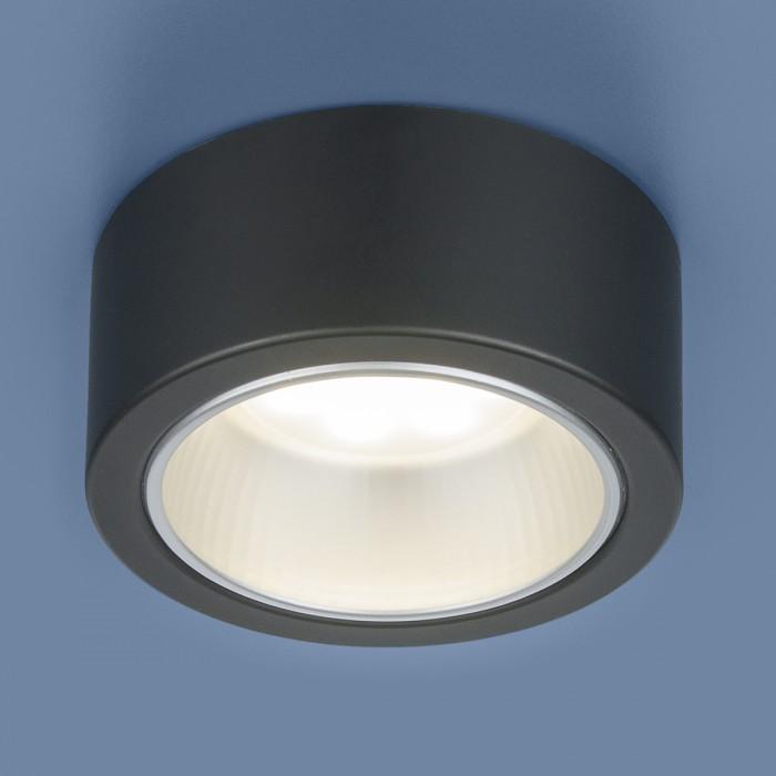 1Накладной точечный светильник 1070 GX53 BK черный Elektrostandart