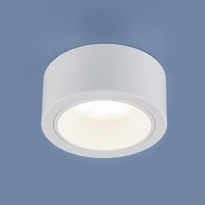 1Накладной точечный светильник 1070 GX53 WH белый Elektrostandart