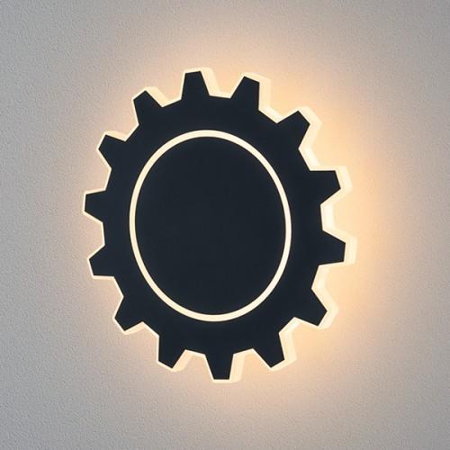 1100 Gear L LED черный Настенный светодиодный светильник