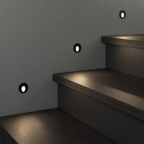 1101 MRL LED чёрный Подсветка для лестниц Электростандарт
