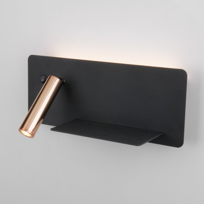 11113 Fant R LED чёрный/золото настенный светодиодный светильник Elektrostandart