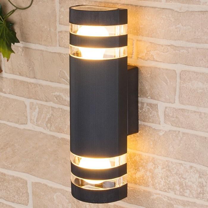 1Светильник уличный настенный, бра уличное 1443 TECHNO черный