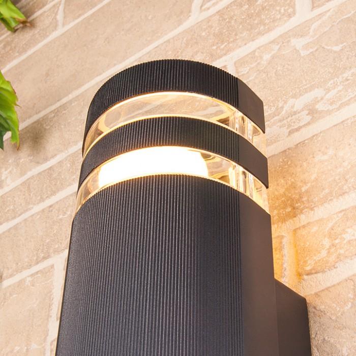 2Светильник уличный настенный, бра уличное 1444 TECHNO черный