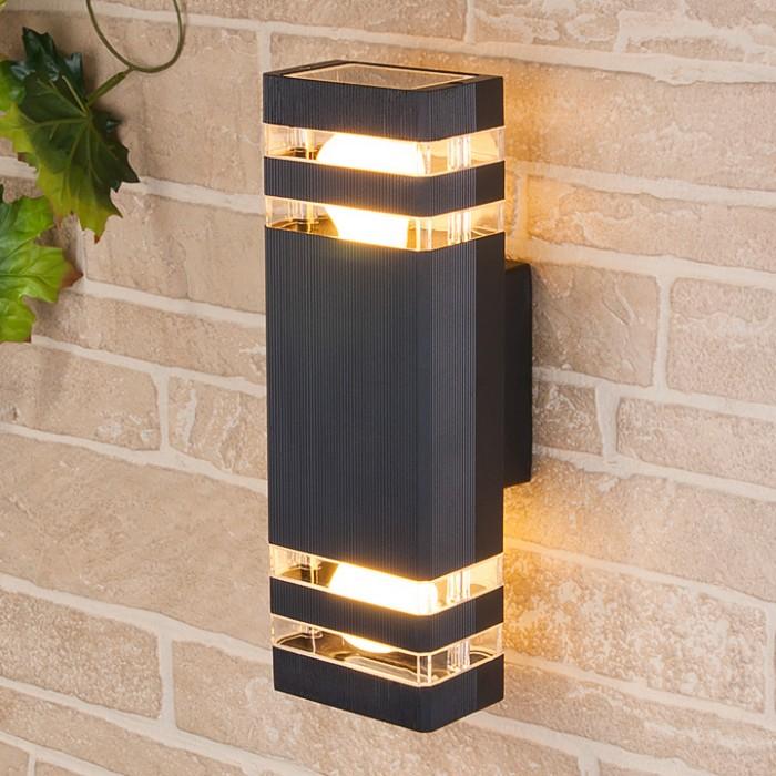 1Светильник уличный настенный, бра уличное 1449 TECHNO черный
