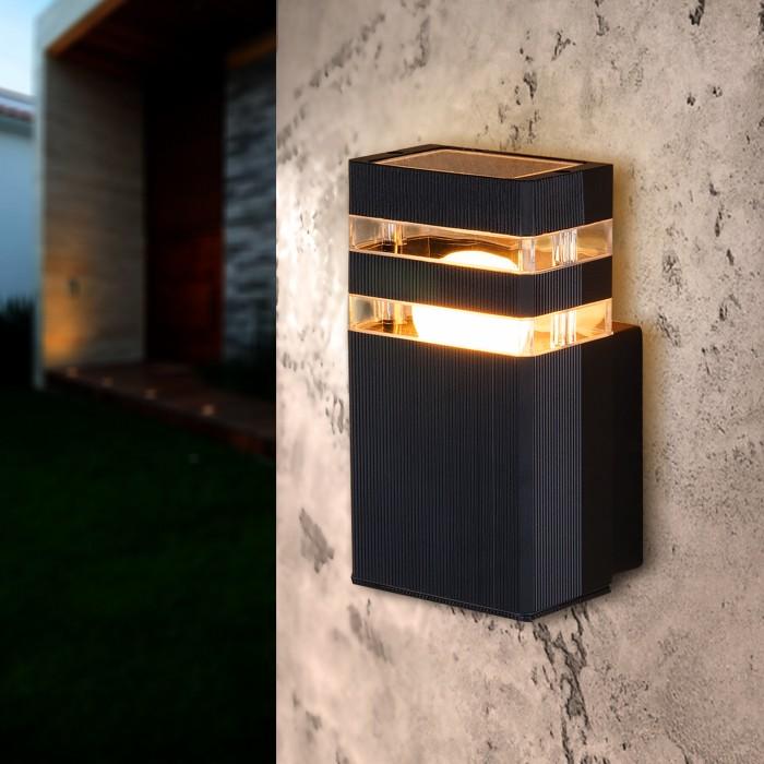 2Светильник уличный настенный, бра уличное 1450 TECHNO черный