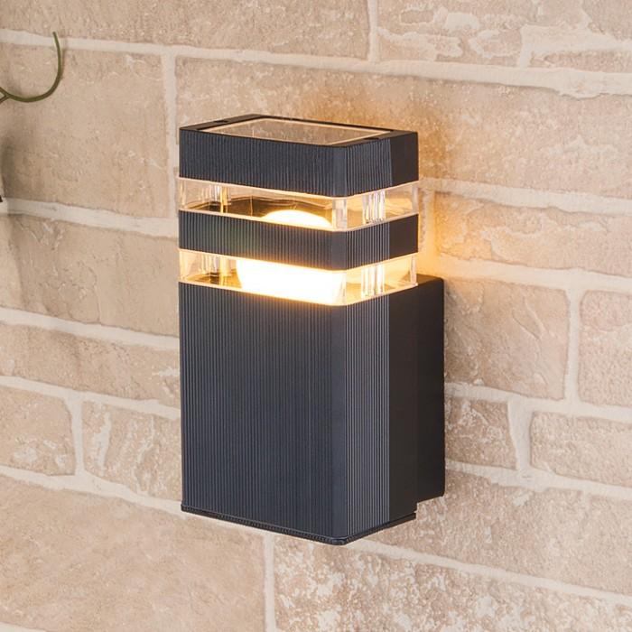 1Светильник уличный настенный, бра уличное 1450 TECHNO черный