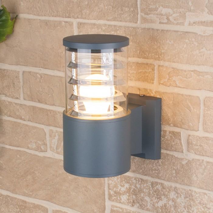 1Светильник уличный настенный, бра уличное 1408 TECHNO серый