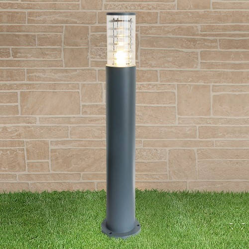 1507 TECHNO серый Уличный столбик Электростандарт