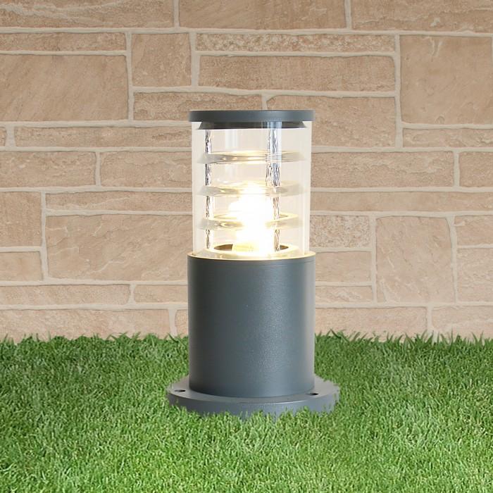 1Уличный наземный светильник-столбик 1508 TECHNO серый