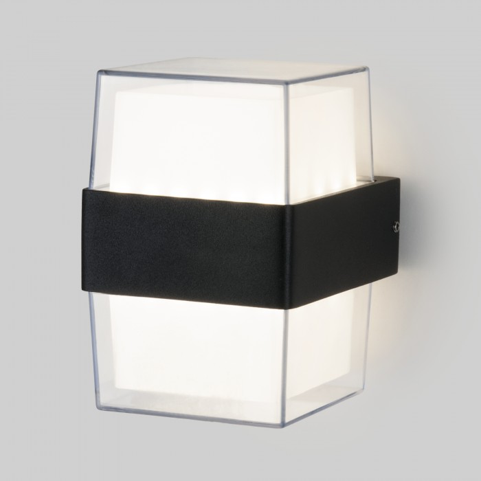 11519 TECHNO LED Maul черный уличный настенный светодиодный светильник