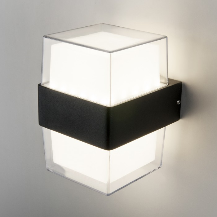 21519 TECHNO LED Maul черный уличный настенный светодиодный светильник