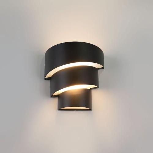 1535 TECHNO LED Helix черный уличный настенный светодиодный светильник Электростандарт