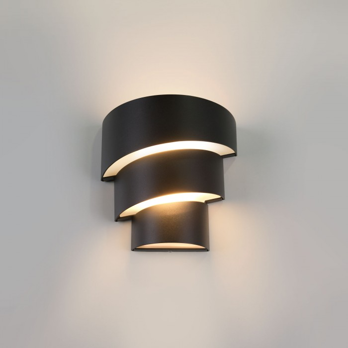 11535 TECHNO LED Helix черный уличный настенный светодиодный светильник Электростандарт