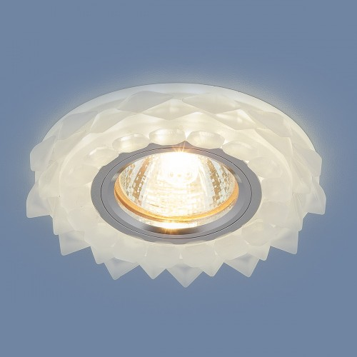 2209 MR16 Matt Ice матовый лед Встраиваемый потолочный светильник с LED подсветкой Электростандарт