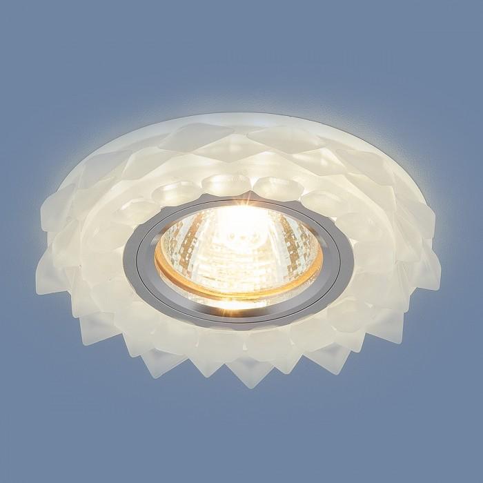 12209 MR16 Matt Ice матовый лед Встраиваемый потолочный светильник с LED подсветкой