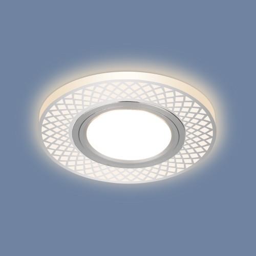 2232 MR16 CH хром Встраиваемый точечный светильник с LED подсветкой Электростандарт