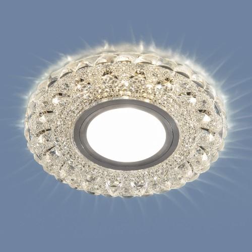 2236 MR16 CL прозрачный Встраиваемый точечный светильник с LED подсветкой Электростандарт