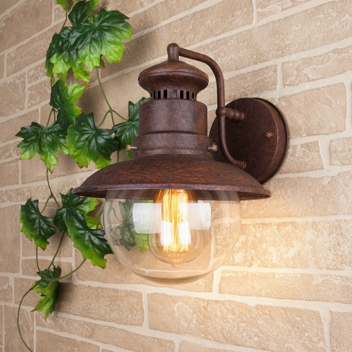 1Настенный уличный светильник 3002D Talli брауни