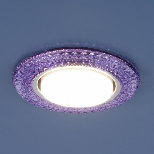 3030 GX53 фиолетовый Электростандарт Встраиваемый светильник