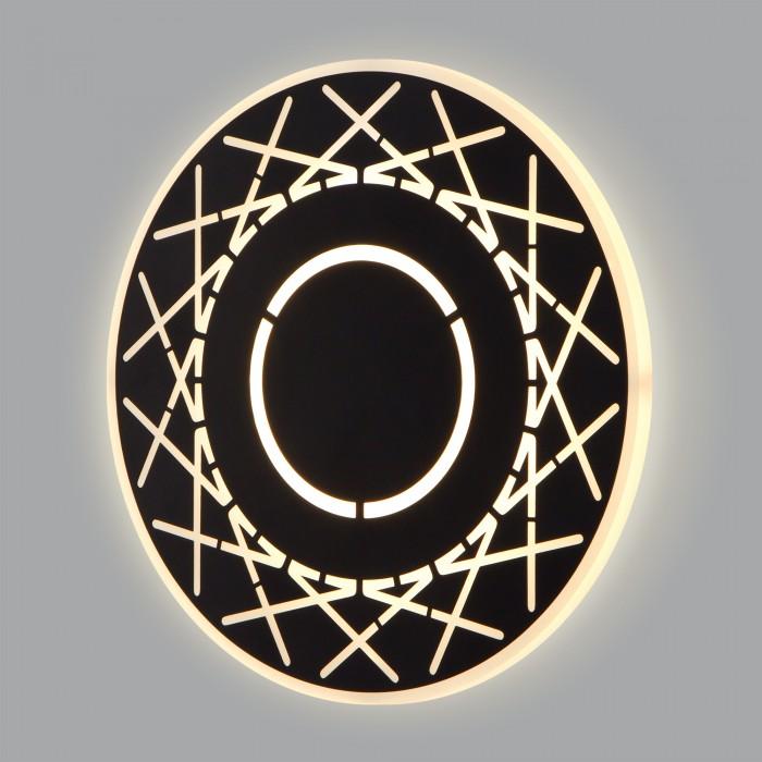 2Настенный светодиодный светильник 40148/1 черный Elektrostandart