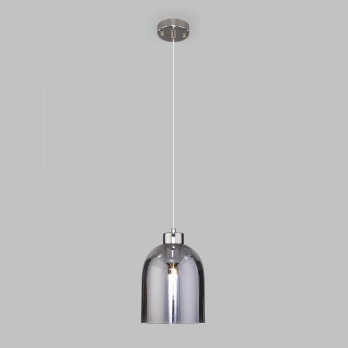 2Подвесной светильник со стеклянным плафоном 50119/1 никель Elektrostandart