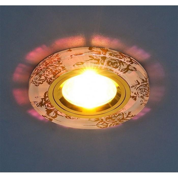 1Встраиваемый светильник 8561/6 WH/GD белый/золото