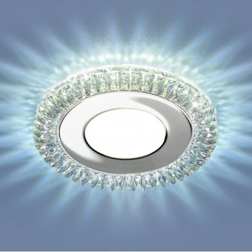 9908 LED 8W CL прозрачный Встраиваемый светодиодный светильник с LED подсветкой Электростандарт