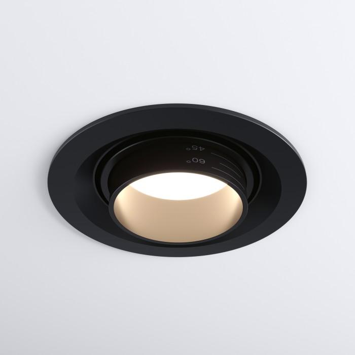19919 LED 10W 4200K черный Встраиваемый светодиодный светильник с регулировкой угла освещения Elektrostandart