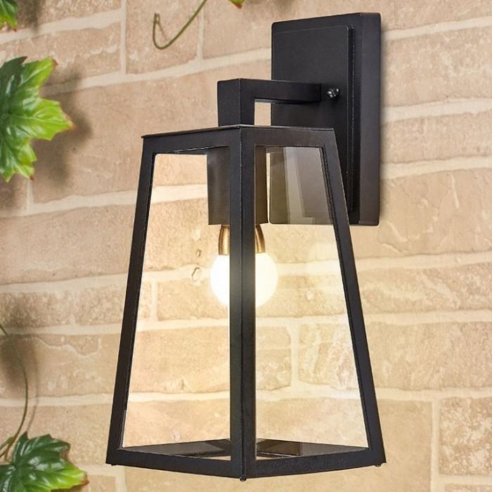 1Настенный уличный светильник Germes D черного цвета
