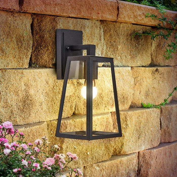 2Настенный уличный светильник Germes D черного цвета