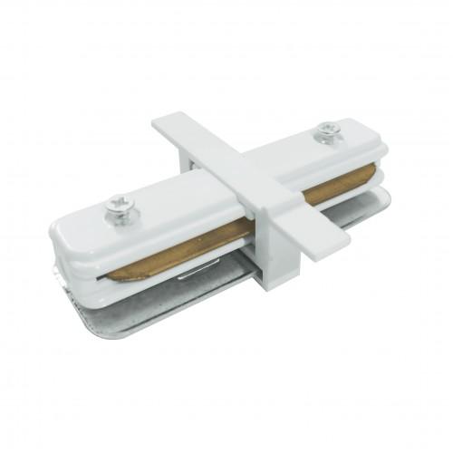 TRCM-1-I-WH Коннектор прямой для однофазного встраиваемого шинопровода белый Электростандарт