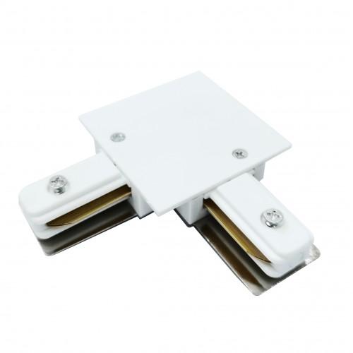 TRCM-1-1-L-WH Коннектор угловой для однофазного встраиваемого шинопровода белый Электростандарт