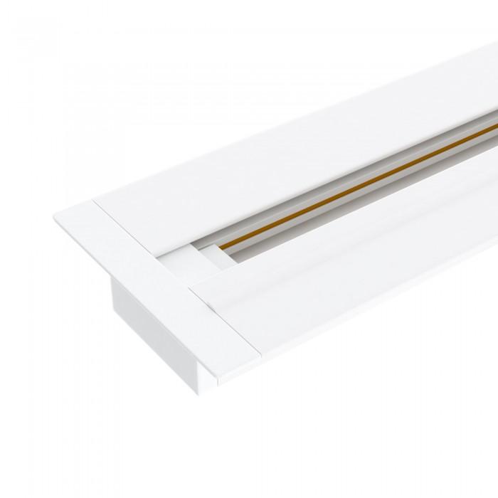 1TRLM-1-100-WH Встраиваемый однофазный шинопровод 1 метр белый (с вводом питания и заглушкой) Электростандарт белого цвета