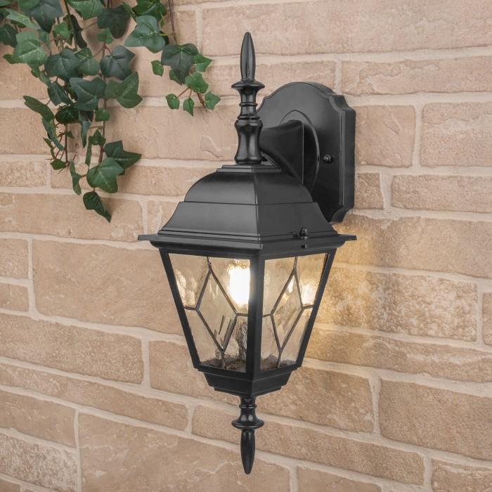 1Уличный настенный светильник Vega D черный Elektrostandart