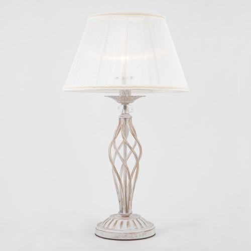 01002/1 белый с золотом EUROSVET Настольная лампа