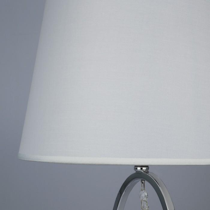 2Настольная лампа с белым абажуром Eurosvet 01055/1