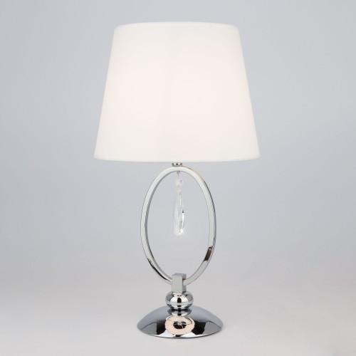 01055/1 EUROSVET Настольная лампа с белым абажуром