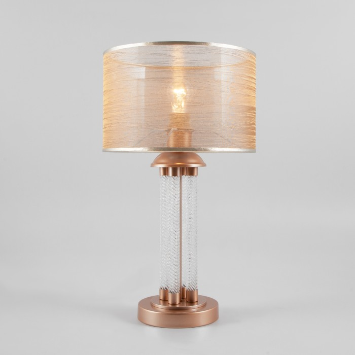 1Настольная лампа Eurosvet 01073/1 перламутровое золото