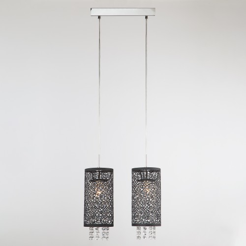 1180/2 Подвесной светильник с хрусталем Евросвет