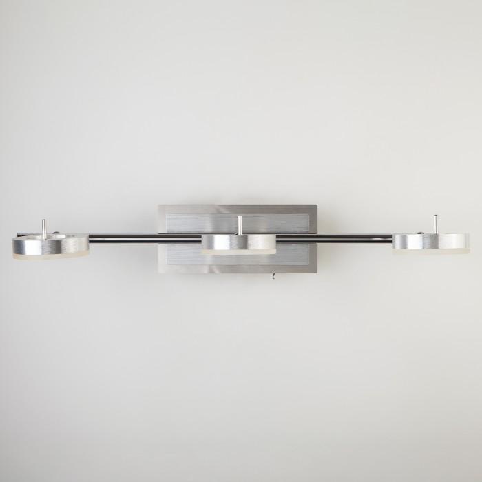 2Светодиодный настенный светильник с поворотными плафонами 20001/3 хром Eurosvet