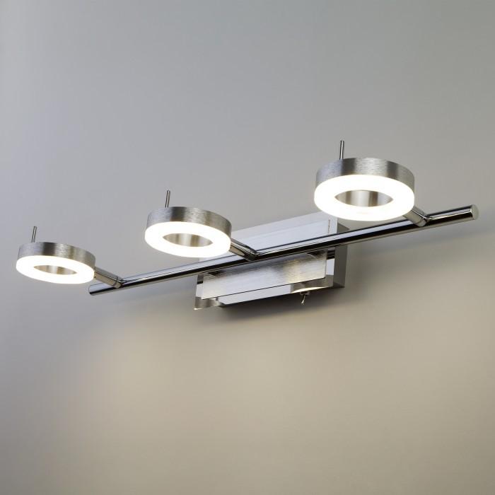 1Светодиодный настенный светильник с поворотными плафонами 20001/3 хром Eurosvet