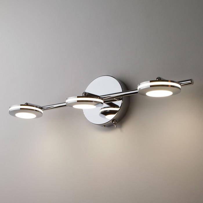 2Светодиодный настенный светильник с поворотными плафонами 20002/3 хром Eurosvet