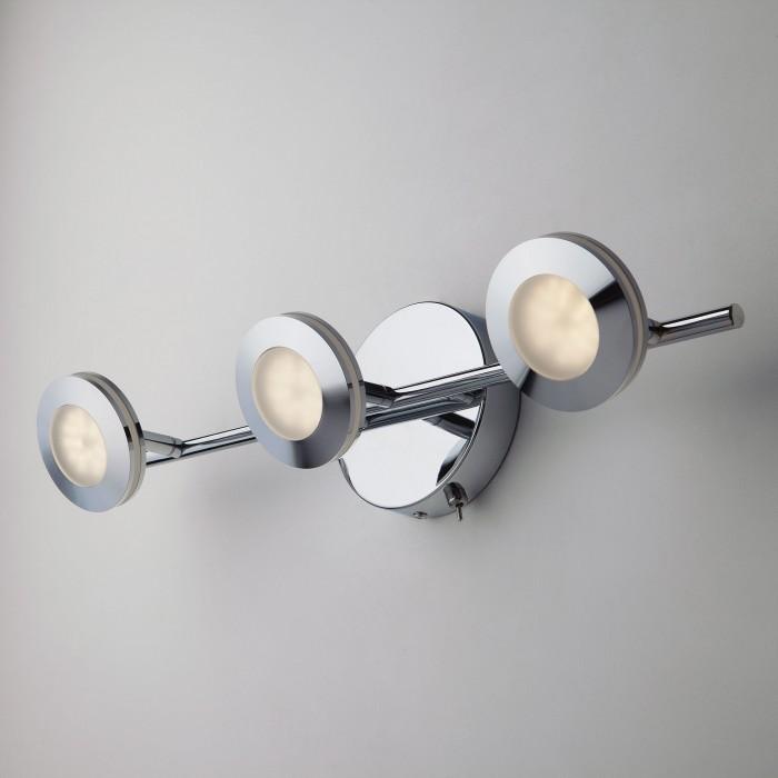 1Светодиодный настенный светильник с поворотными плафонами 20002/3 хром Eurosvet