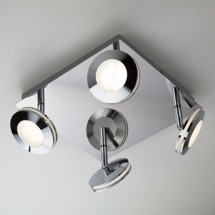 1Светодиодный потолочный светильник с поворотными плафонами 20002/4 хром Eurosvet