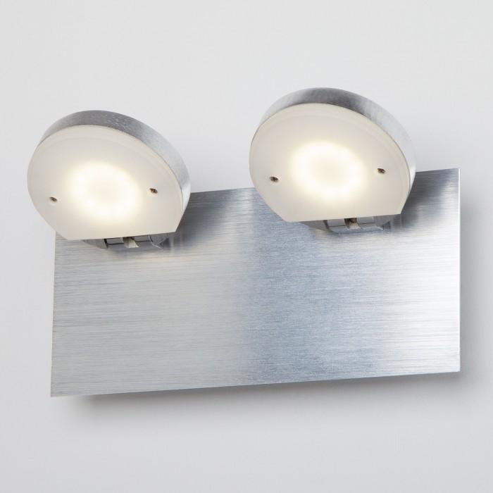 2Светодиодный настенный светильник с поворотными плафонами 20004/2 хром Eurosvet