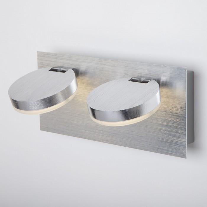 1Светодиодный настенный светильник с поворотными плафонами 20004/2 хром Eurosvet