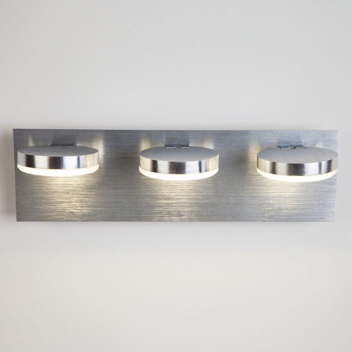 2Светодиодный настенный светильник с поворотными плафонами 20004/3 хром Eurosvet