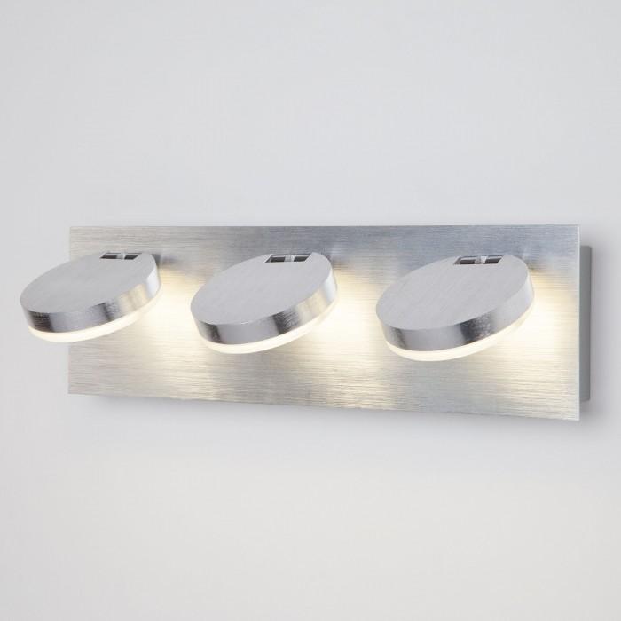 1Светодиодный настенный светильник с поворотными плафонами 20004/3 хром Eurosvet