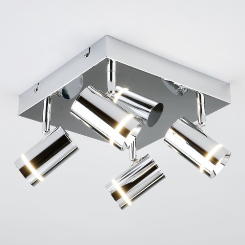 20064/4 LED хром Потолочный светодиодный светильник с поворотными плафонами ЕВРОСВЕТ